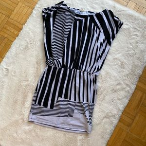 Black and white patterned dress